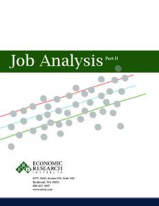 Job Analysis. Part II th Avenue NE, Suite 100 Redmond, WA