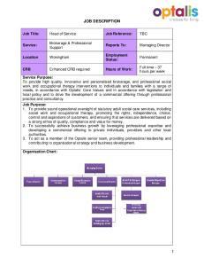 JOB DESCRIPTION. Reports To: Employment Status: