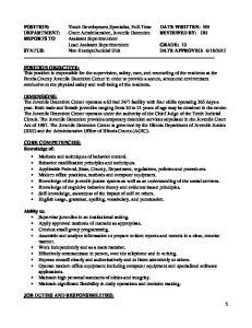 JOB DUTIES AND RESPONSIBILITIES: 1