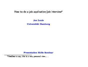 job interview a