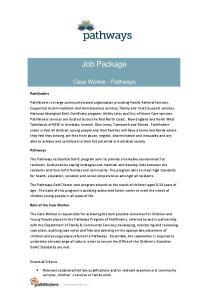 Job Package. Case Worker - Pathways
