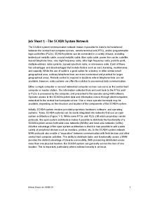 Job Sheet 1 The SCADA System Network