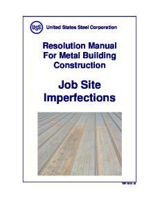 Job Site Imperfections