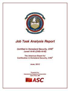 Job Task Analysis Report