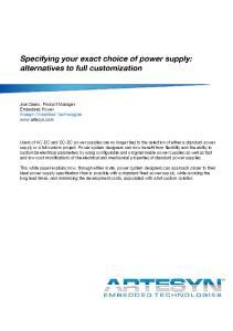 Joel Zaens, Product Manager Embedded Power Artesyn Embedded Technologies
