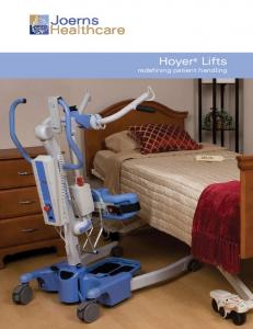 Joerns Healthcare. Hoyer Lifts redefining patient handling