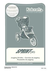 Jogging Stroller - Carriola de jogging Poussette de jogging