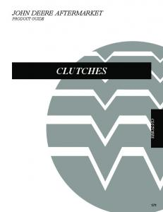 JOHN DEERE AFTERMARKET PRODUCT GUIDE CLUTCHES CLUTCHES