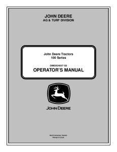 JOHN DEERE AG & TURF DIVISION