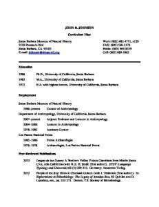 JOHN R. JOHNSON. Curriculum Vitae