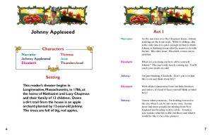 Johnny Appleseed. Act 1. Characters. Setting