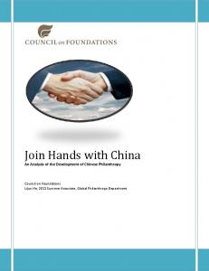 Join Hands with China