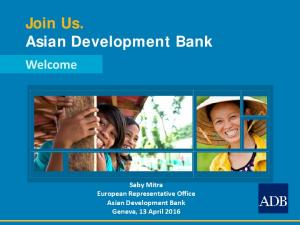 Join Us. Asian Development Bank