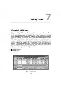 Joining Tables 7. Information in Multiple Tables