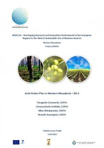 Joint Action Plan in Western Macedonia D3.2