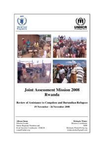 Joint Assessment Mission 2008 Rwanda