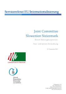 Joint Committee Slowenien Steiermark