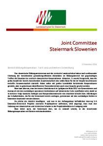 Joint Committee Steiermark Slowenien