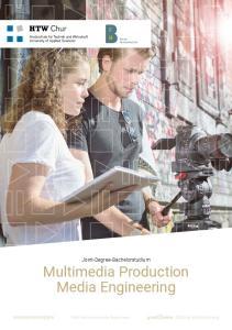 Joint-Degree-Bachelorstudium Multimedia Production Media Engineering