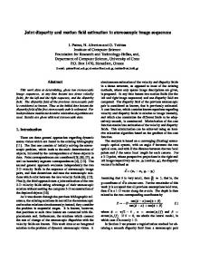 Joint disparity and motion field estimation in stereoscopic image sequences