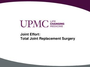 Joint Effort: Total Joint Replacement Surgery