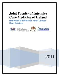 Joint Faculty of Intensive Care Medicine of Ireland National Standards for Adult Critical Care Services