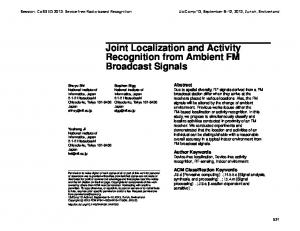 Joint Localization and Activity Recognition from Ambient FM Broadcast Signals