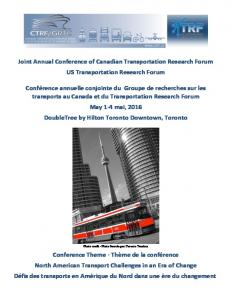 Joint&Annual&Conference&of&Canadian&Transportation&Research&Forum& US&Transportation&Research&Forum&