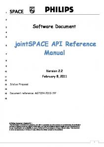 jointspace API Reference Manual