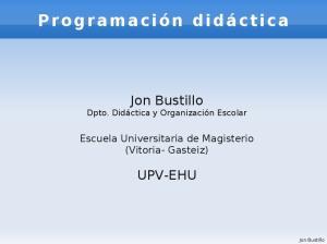 Jon Bustillo UPV-EHU