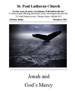 Jonah and God s Mercy