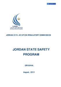 JORDAN STATE SAFETY PROGRAM