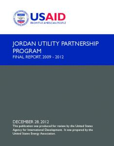 JORDAN UTILITY PARTNERSHIP PROGRAM FINAL REPORT,