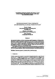 JORDANIAN ARABIC FINAL GEMINATES: AN EXPERIMENTAL CLINICAL PHONETIC STUDY