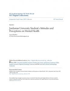 Jordanian University Student s Attitudes and Perceptions on Mental Health