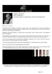 JORDI MANAUTA PHOTOGRAPHY EXPOSURE IN DENTAL PHOTOGRAPHY