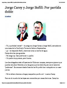 Jorge Carey y Jorge Bofill: Por partida doble