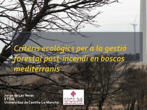 Jorge de Las Heras ETSIA Universidad de Castilla-La Mancha