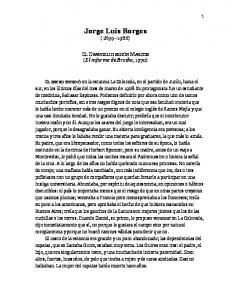 Jorge Luis Borges ( )