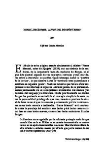 JORGE LUIS BORGES, AUTOR DEL MARTÍN FIERRO