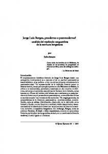 Jorge Luis Borges, moderno o postmoderno?