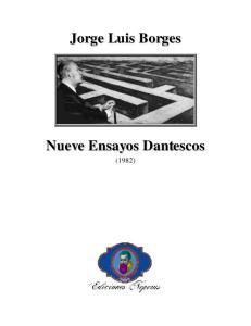 Jorge Luis Borges Nueve Ensayos Dantescos