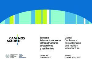 Jornada Internacional sobre infraestructuras sostenibles y resilientes