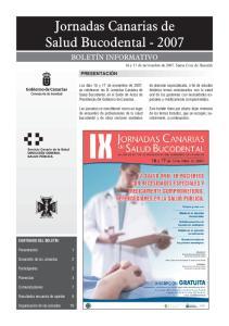 Jornadas Canarias de Salud Bucodental