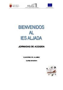 JORNADAS DE ACOGIDA CUADERNO DEL ALUMNO