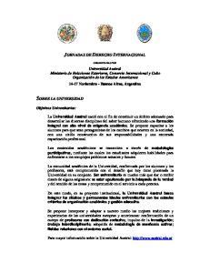 JORNADAS DE DERECHO INTERNACIONAL SOBRE LA UNIVERSIDAD