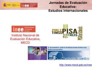 Jornadas de Evaluación Educativa: Estudios internacionales