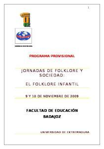 JORNADAS DE FOLKLORE Y SOCIEDAD: