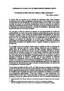 JORNADAS DE LA FACULTAD DE PSICOLOGIA EN REGIONAL NORTE