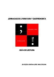 JORNADAS DE LITERATURA Y GASTRONOMÍA